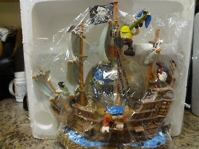 M&Ms Pirates of the Caribbean snow globe pirate ship VERY RARE Disney