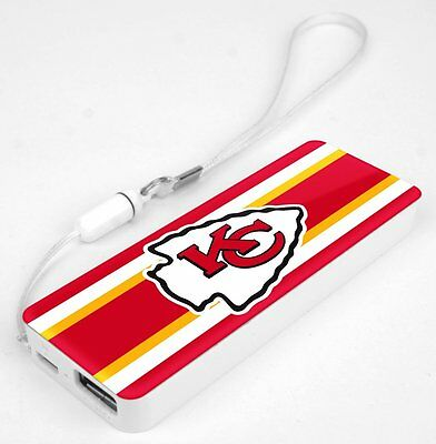 Mizco NFL Kansas City Chiefs 3K Slim Power Bank Powerbar