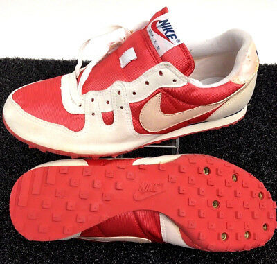 46ef93f99c85 Nike Men s Shoes Cleats Red White 9 Soccer Lace Up Zoom X II 80 s Vintage  New