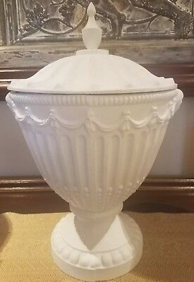 Neo Classical Cast Iron French urn/ Planter with removable lid  (1)