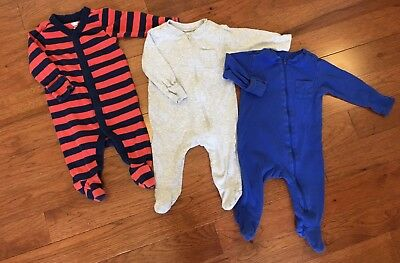LOT Old Navy Baby One-Piece Sleepers 3-6 Months