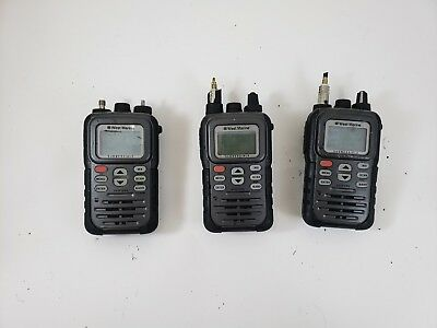 Lot of (3) West Marine VHF250 Handheld Marine Radio Submersible FOR PARTS AS-IS