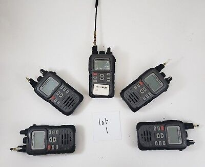 Lot of (5) West Marine VHF250 Handheld Marine Radio Submersible FOR PARTS AS-IS
