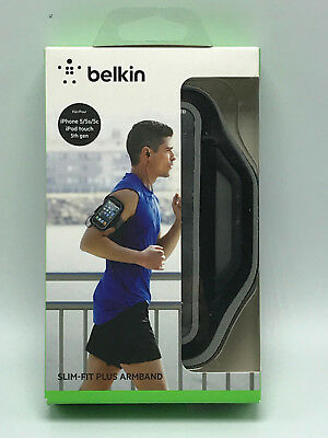 Belkin Slim-Fit Plus Armband for iPhone 5 / 5S / 5c / SE (Black / Gravel) NEW