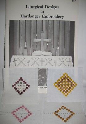 Liturgical Church Designs Hardanger Embroidery Patterns, Meier Watnemo + Squares