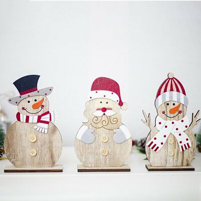 Christmas Wooden Decoration Ornaments Christmas Creative Painted Ornaments KQ