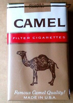 """1 VINTAGE ('60s-'70s) COLLECTIBLE CIGARETTE PACK - """"CAMEL"""" (FILTERS) -NOS- EMPTY"""