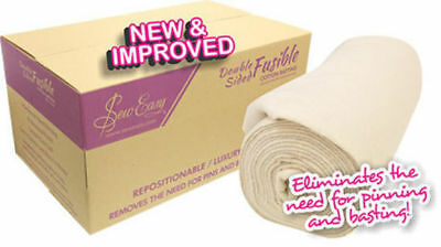 Sew Easy Double Sided Fusible Cotton Batting - 50 cm x 254 cm wide