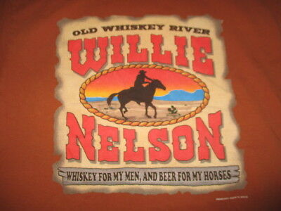 2015 American Icon WILLIE NELSON Old Whiskey River Concert Tour (LG) T-Shirt