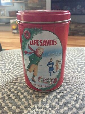 Collectible 1991 Limited Edition Life Savers Holiday Keepsake Tin Container