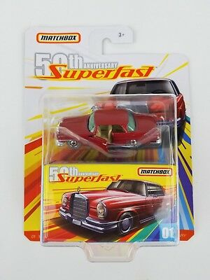2019 Matchbox 50TH Anniversary Superfast 62 Mercedes 220se Moving Parts