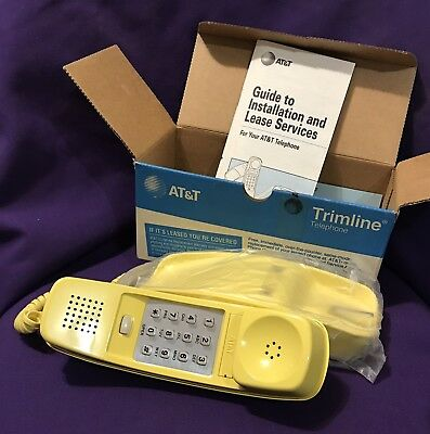 SUNBURST YELLOW - AT&T Western Electric Trimline Telephone Factory Reconditioned