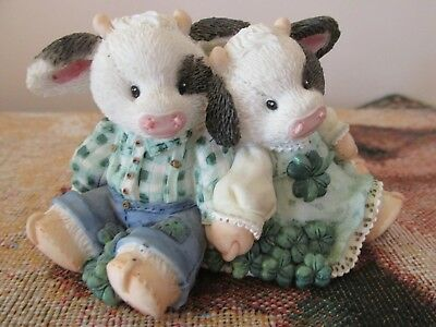 "Mary's Moo Moo ""Lucky To Have Each Other"" Figurine 1995"