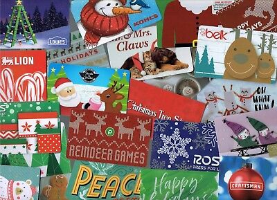 Collectible Gift Card CHRISTMAS- LOT of 50 Diff Cards - No Value - Each Pictured