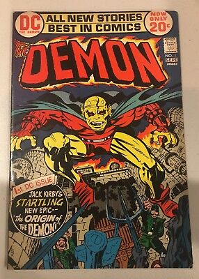 The Demon #1 1st Appearance Of The Demon Jack Kirby 1972 DC Comics