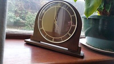 Art Deco Smiths Mantle Clock With New Quartz Movement Beautiful Example.