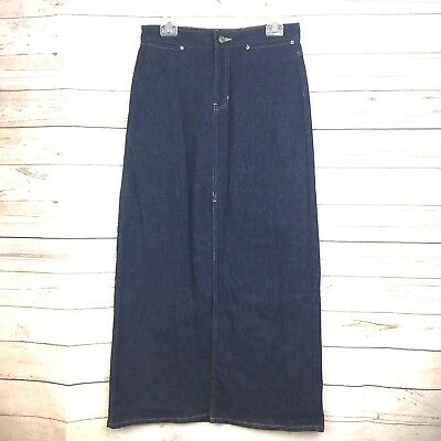 Gap Women's skirt vintage long front slit 8 stretch denim (ae581
