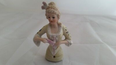 BEAUTIFUL Antique/Vintage Half Doll Pin Cushion. A Must See!