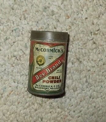 McCormick's Bee Brand Chili Powder Spice Tin