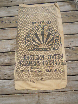 Awesome Cloth Feed Seed Sack-Black Stars-Eastern States Farmers Exchange, MASS
