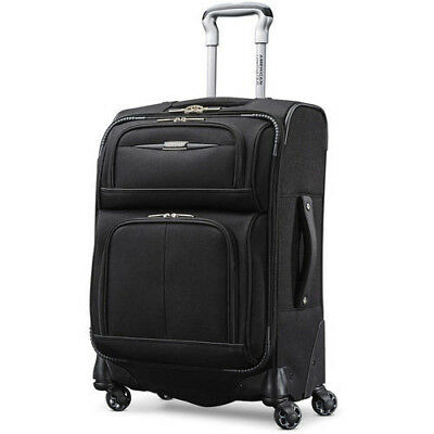 """New American Tourister 21"""" Meridian NXT Soft side Spinner Luggage Large Black"""
