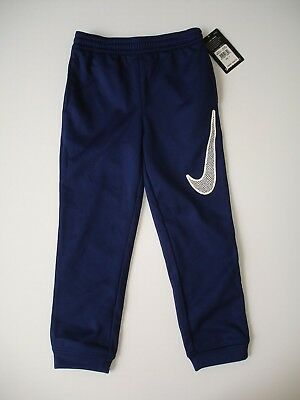 c8f941caabf500 NWT Boy size 7 - Nike Therma Fit Pant in Navy Blue with White - Looser