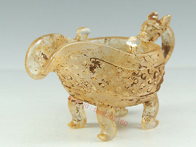 Chinese Exquisite Handmade beast Glass cup