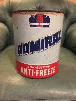 Rare Admiral Anti-freeze Advertising Gas Oil Can