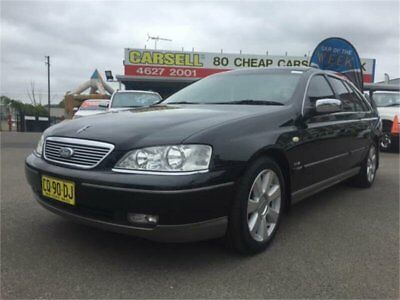 2005 Ford Fairlane BF Ghia Black Automatic 6sp A Sedan