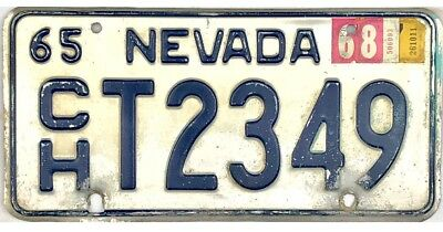 1965 Nevada TRUCK License Plate Churchill County #2349 No Reserve