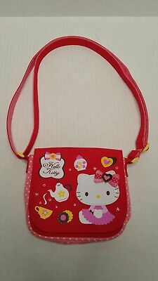 345436797799 Sanrio Hello Kitty Mini Purse Pink Red 2011 HTF