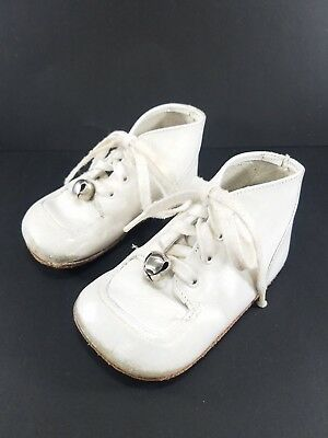 Buster Brown Vintage 70s White Infant Baby Shoes Size 3 Wilker Doll Stride Rite