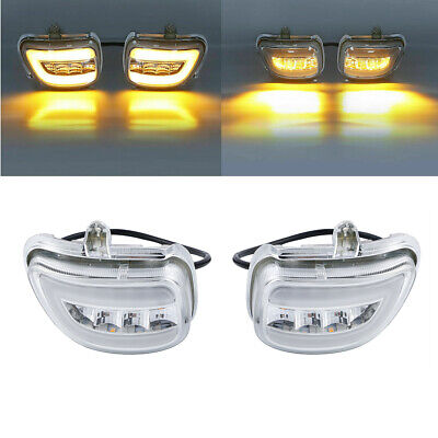 Front LED Turn Signals Clear Lens For Honda Goldwing GL1800 2001-2017 02 03 04