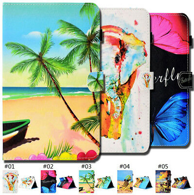 Flip Stand Painted PU Leather Wake/Sleep Fashion Smart Case Cover For Amazon