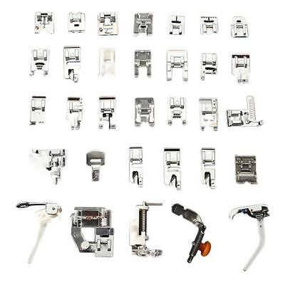 32 PCS Domestic Sewing Machine Foot Feet Snap On For Brother Singer Set NEW