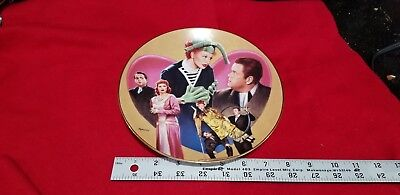 SALE Lucy Hamilton Collector round Shaped Plate Lucy Meets Orson Wells  #0549A