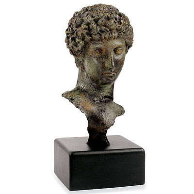 Bust of ancient Greek Youth or Athlete Bonded Bronze Museum Replica Reproduction