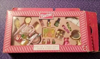 1998 Barbie Special Collection Bath and Vanity Set NRFB