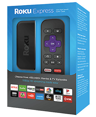 Brand New Roku EXPRESS 3700R Fast 1080p HD Media Streaming Player with Remote