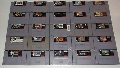 Super Nintendo 25 Hit Game Lot