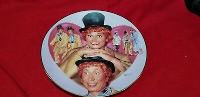 """I Love Lucy """"LUCY and HARPO MARX""""  Collector Plate"""