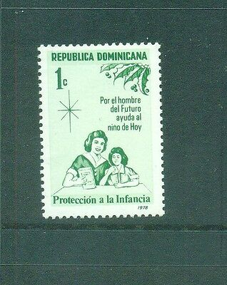 Dominican Republic 1978 Mother and Child,  Tax for Child Welfare   MLH Sc RA 83