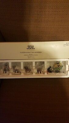 Department 56 Heritage Village Collection Sleigh of Eight Tiny Reindeer #5611-1