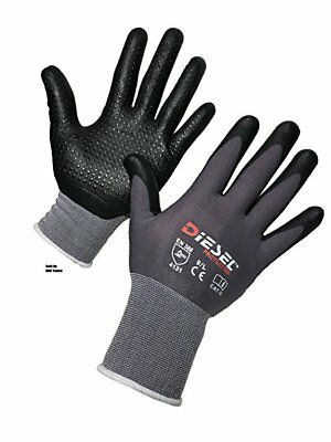 12-Pair Diesel D'LUXE Glove Ultra-Lightweight breathable Dotted palms Small