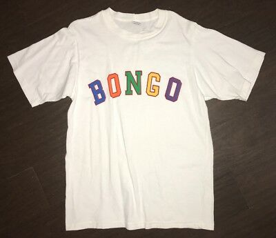 Vintage Men's Bongo By Gene Montesano T Shirt Size Medium White