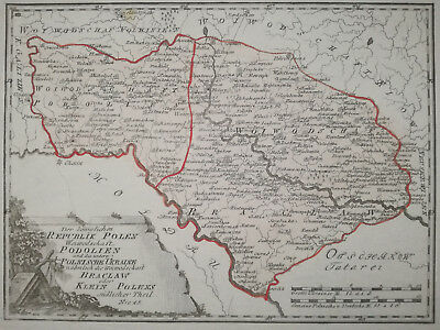 Reilly Original Folio Map Podolien Ukraine - 1789#
