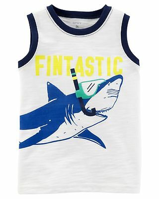 d93726477b5a CARTERS LITTLE BOYS Shark Slub Jersey Tank