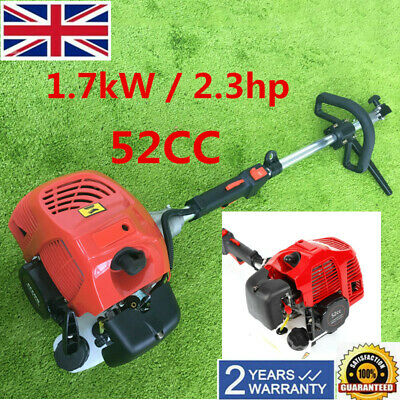 Hand Held Concrete Cleaning Driveway 52Cc Gas Power Sweeper Broom Walk Behind Uk