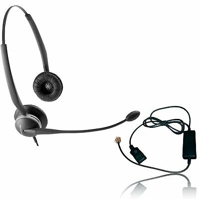Jabra 2125-NCD Headset Bundle - Headset with Telephone Cable | RJ9 Phones, VoIP,