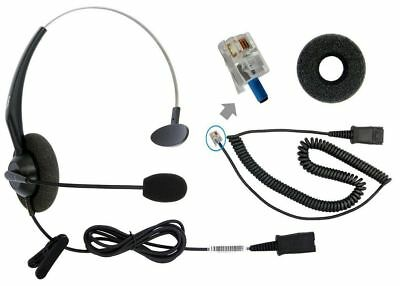 DailyHeadset Corded Office Phone Headset include RJ9 bottom cord for Yealink Gra